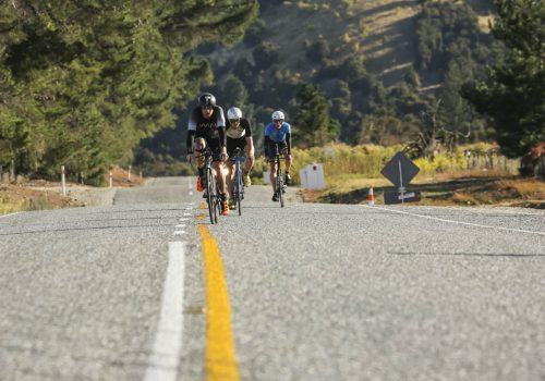 Luke McKenzie leads Mike Phillips and Luke Bell in the 2017 Challenge Wanaka