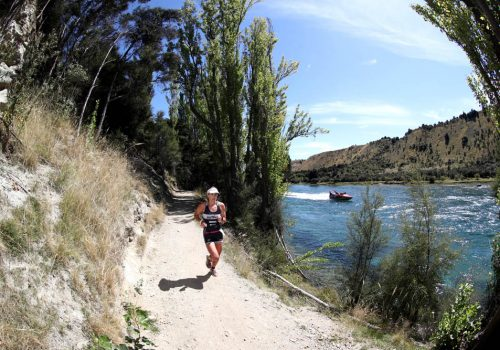 Julia Grant of New Zealand competes in the 2017 Challenge Wanaka