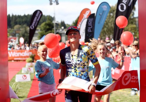 aura Siddall of Great Britain finishes second in the 2017 Challenge Wanaka