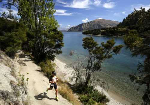 Mike Phillips competes in the 2017 Challenge Wanaka