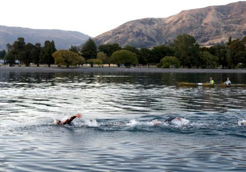 Swimmers in the water during the 2017 Challenge Wanaka