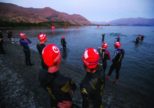 Competitors at the start of the 2017 Challenge Wanaka
