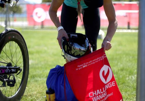 Alyssa Godesky of the USA packs a day bag prior to the 2017 Challenge Wanaka