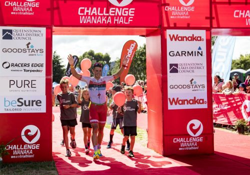 Javier Gomez of Spain wins the Pro Half event at the 2018 Challenge Wanaka