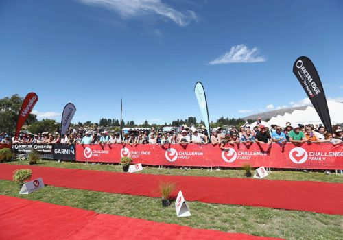Finish line GV during the 2017 Challenge Wanaka